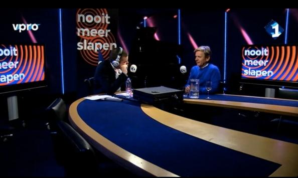 Pieter van der Wielen in gesprek met Michiel van Erp in 'Nooit meer slapen', nacht van 7 op 8 januari 2014.
