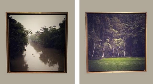 'Schuldige landschappen'. Links een rivier in de buurt van Rawagede op West-Java en rechts bomen bij Soppeng op Sulawesi.