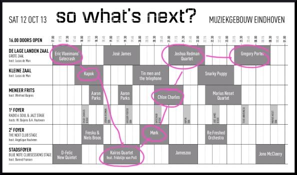 Mijn routekaart op het So What's Next festival 2013