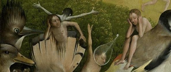 Deze illustratie is een samengesteld beeld waarvoor twee details van het middenpaneel van het drieluik Tuin der lusten van Jheronimus Bosch zijn gebruikt.
