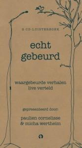 Cover van 'Echt gebeurd', winnaar van de Storytel Luisterboek Award 2014.