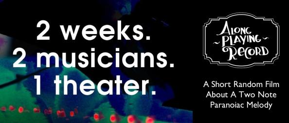 2 weeks. 2 musicians. 1 theater. Twee korte films met muziek & beeld, gemaakt door Joris Tillmans en Katrien van de Camp.