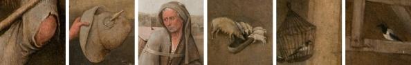 Details can De landloper / De marskramer, Jheronimus Bosch, ca. 1500-10. Collectie: Museum Boijmans Van Beuningen.